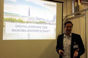 Vortrag Nikolai Roth zum Thema Digitalisierung der Immobilienwirtschaft