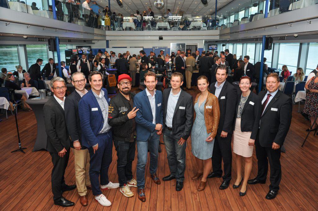 Die Teilnehmer des Real Estate Slam und die IMMOEBS Arbeitskreisleitung Rhein-Ruhr