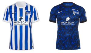 Neue Trikots Hertha BSC Berlin mit Homeday als Hauptsponsor